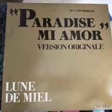 """Discos de vinilo: LUNE DE MIEL - PARADISE MI AMOR (12"""", MAXI) SELLO:BABY RECORDS CAT. Nº: BR 12121. COMO NUEVO. Lote 222720592"""