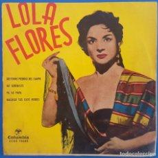 Discos de vinilo: EP / LOLA FLORES / GRITENME PIEDRAS DEL CAMPO - ME SERENASTE - PA SU PAPA - MALDIGO TUS OJOS VERDES. Lote 222721017