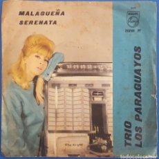 Discos de vinilo: SINGLE / TRIO LOS PARAGUAYOS / MALAGUEÑA - SERENATA / PHILIPS 319169 PF. Lote 222721335