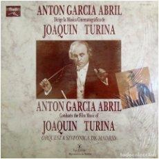 Discos de vinilo: JOAQUÍN TURINA, ANTÓN GARCÍA ABRIL - A. G. ABRIL DIRIGE LA MÚSICA CINEMATOGRÁFICA DE JOAQUÍN TURINA. Lote 222721575