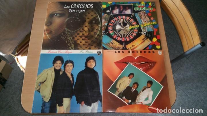 4 LP VINILO LOS CHICHOS BAILARAS CON ALEGRIA OJOS NEGROS RULETA Y AMOR DEJAME SOLO (Música - Discos - LP Vinilo - Flamenco, Canción española y Cuplé)