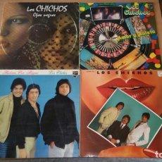 Discos de vinilo: 4 LP LOS CHICHOS BAILARAS CON ALEGRIA OJOS NEGROS RULETA Y AMOR DEJAME SOLO. Lote 222725928