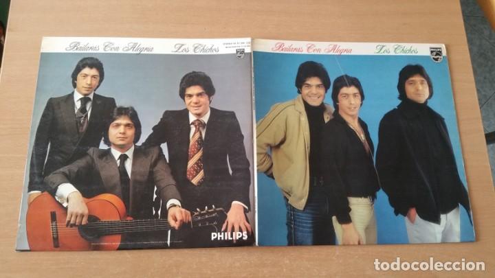 Discos de vinilo: 4 LP vinilo LOS CHICHOS BAILARAS CON ALEGRIA OJOS NEGROS RULETA Y AMOR DEJAME SOLO - Foto 2 - 222725928