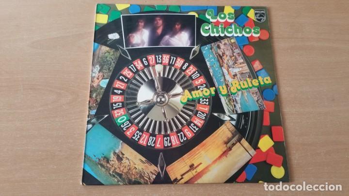 Discos de vinilo: 4 LP vinilo LOS CHICHOS BAILARAS CON ALEGRIA OJOS NEGROS RULETA Y AMOR DEJAME SOLO - Foto 6 - 222725928