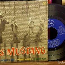 Discos de vinilo: LOS MUSTANG -MI VIDA - Y VOLVAMOS AL AMOR - UN NUMDO SIN AMOR -CONOCERTE MEJOR. Lote 222736663