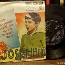 Discos de vinilo: JOSELITO - CLAVELITOS - DOCE CASCABELES - COLOMBIA TIENE UNA COPLA - POR LLAMARTE MARISOL. Lote 222736885