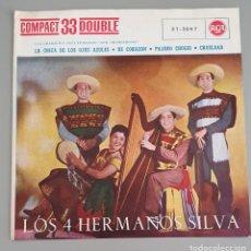 Discos de vinilo: LOS 4 HERMANOS SILVA. RCA 1961. LA CHICA DE LOS OJOS AZULES. Lote 222741587