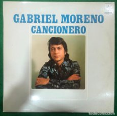 Discos de vinilo: GABRIEL MORENO CANCIONERO / LP HISPAVOX DE 1975 RF-8759. Lote 222743246