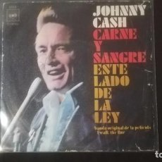Discos de vinilo: JOHNNY CASH - FLESH AND BLOOD. Lote 222747986