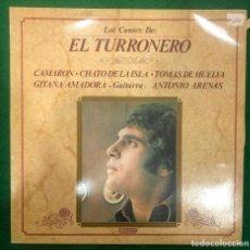 Discos de vinilo: LOS CANTES DE EL TURRONERO. CAMARON CHATO DE LA ISLA TOMAS DE HUELVA / LP DE 1986 RF-8760. Lote 222748806