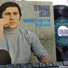 Discos de vinilo: FERNANDO UNSAIN SINGLE PROMOCIONAL SUJETADME LA SANGRE AL MAR 1970 EN PERFECTO ESTADO. Lote 222794267