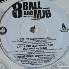 Discos de vinilo: 8 BALL AND MJG - GET LOW / F**K THAT / FOR AN OUTFIT - 2006. Lote 222802025