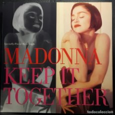 Discos de vinilo: MADONNA - KEEP IT TOGETHER - MAXISINGLE - USA - 1990 - EXCELENTE - NO USO CORREOS. Lote 222803436