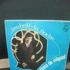 Discos de vinilo: FRANCISCO DE MIGUEL, ISABELL / LA NOCHE. SINGLE PHILIPS 1967.. Lote 222810422