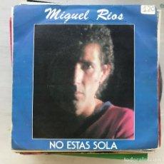 Discos de vinilo: MIGUEL RÍOS - NO ESTÁS SOLA / ANTINUCLEAR - SINGLE POLYDOR 1983. Lote 222816198