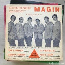 Discos de vinilo: MILLÁN BOY'S - TOMA GEROMA / AURORA, AURORA / TU PLEGARIA ES / POR TI, AMOR - EP SINTONÍA 1967. Lote 222817142