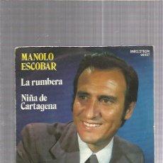 Discos de vinilo: MANOLO ESCOBAR. Lote 222825010
