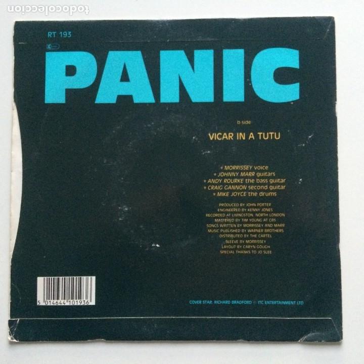 Discos de vinilo: Smiths – Panic / Vicar In A Tutu UK 1986 - Foto 2 - 222832798