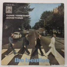 Discos de vinilo: THE BEATLES– COME TOGETHER / SOMETHING- SINGLE- ED. ESPAÑOLA- 1969. Lote 222838171
