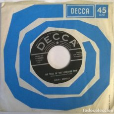 Discos de vinilo: JIMMY DONLEY. SOUTH OF THE BORDER/ THE TRAIL OF THE LONESOME PINE. DECCA USA 1958 SINGLE. Lote 222840278