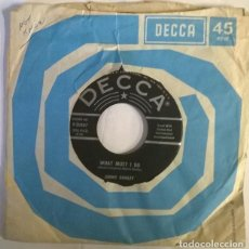 Discos de vinilo: JIMMY DONLEY. WHAT MUST I DO/ THE SHAPE YOU LEFT ME IN. DECCA USA 1959 SINGLE. Lote 222840855