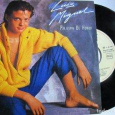 Discos de vinilo: LUIS MIGUEL PALABRA DE HONOR. Lote 222842598
