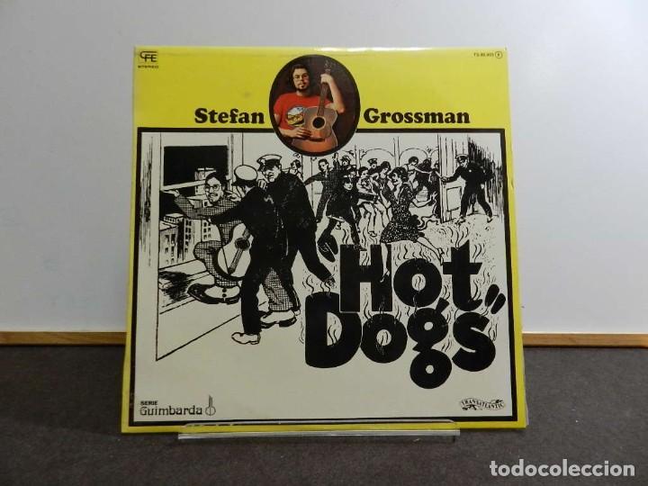 VINILO LP. STEFAN GROSSMAN - HOT DOGS. 33RPM. EDICIÓN ESPAÑOLA (Música - Discos - LP Vinilo - Country y Folk)