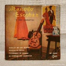 Discos de vinilo: MANOLO ESCOBAR Y SUS GUITARRAS - DEBAJO DE LOS OLIVOS + 3 - EP SAEF DEL AÑO 1959. Lote 222844026