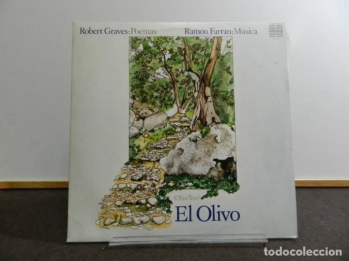 VINILO LP. RAMÓN FARRÁN & ROBERT GRAVES - EL OLIVO. 33RPM. PRIMERA EDICIÓN ESPAÑOLA 1977 (Música - Discos - LP Vinilo - Country y Folk)