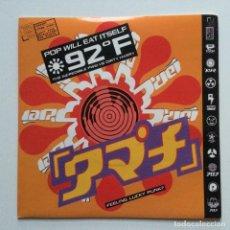 Discos de vinilo: POP WILL EAT ITSELF – 92° F / THE INCREDIBLE PWEI VS DIRTY HARRY EUROPE 1991. Lote 222845332