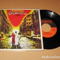 Discos de vinilo: SUPERMAX - WORLD OF TODAY / CAMILLO - SINGLE - 1978 - IMPORT. Lote 222847138