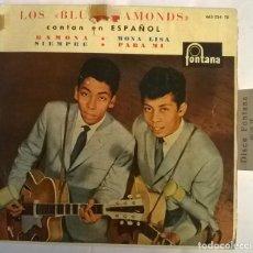 Discos de vinilo: LOS BLUE DIAMONDS. RAMONA/ MONA LISA/ SIEMPRE/ PARA MI. FONTANA, SPAIN 1961 EP. Lote 222847305