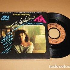 Discos de vinilo: IRENE CARA - FLASHDANCE... WHAT A FEELING - SINGLE - 1983 - IMPORT. Lote 222847532