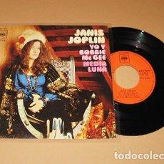 Discos de vinilo: JANIS JOPLIN - YO Y BOBBIE MCGEE - SINGLE - CBS LOGO - 1971. Lote 222847945