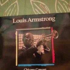 Discos de vinilo: LOUIS ARMSTRONG. CHICAGO CONCERT. LP. Lote 222849033