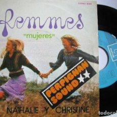 Discos de vinilo: NATHALIE Y CHRISTINE MUJERES. Lote 222858795