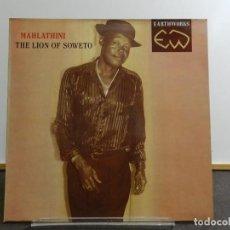 Discos de vinilo: VINILO LP. MAHLATHINI - THE LION OF SOWETO. EDICIÓN INGLESA.. Lote 222880686
