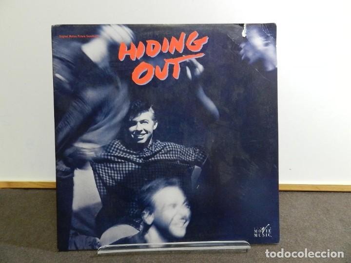 VINILO LP. SOUNDTRACK. VARIOS - HIDING OUT. EDICIÓN AMERICANA USA. (Música - Discos - LP Vinilo - Bandas Sonoras y Música de Actores )