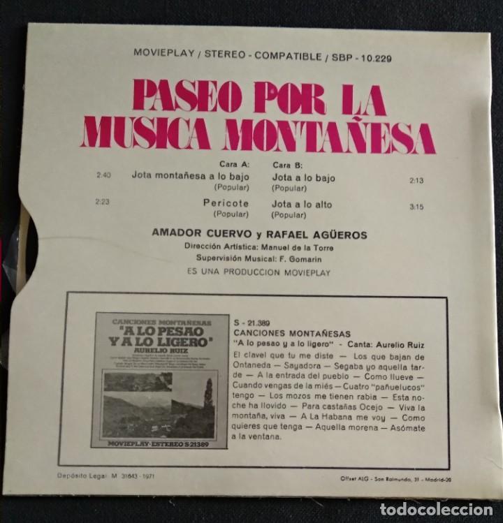 Discos de vinilo: Lote Vinilos (sin usar) folkore regional MUSICA MONTAÑESA / COSUCAS DE LA MONTAÑA - Foto 4 - 222896297