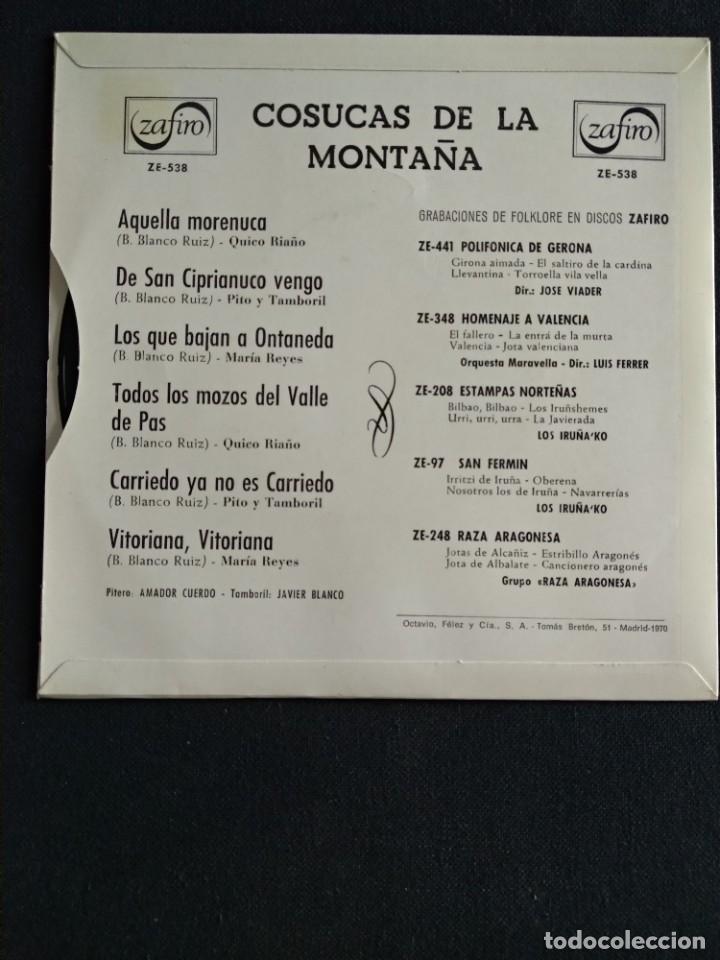 Discos de vinilo: Lote Vinilos (sin usar) folkore regional MUSICA MONTAÑESA / COSUCAS DE LA MONTAÑA - Foto 5 - 222896297