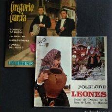 Discos de vinilo: LOTE VINILOS (SIN USAR) FOLKORE REGIIONAL JOTAS CASTELLANAS GREGORIO GARCIA / CASA DE LEON DE MADRID. Lote 222896693