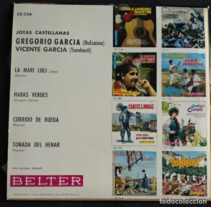 Discos de vinilo: Lote Vinilos (sin usar) folkore regiional JOTAS CASTELLANAS GREGORIO GARCIA / CASA DE LEON DE MADRID - Foto 4 - 222896693