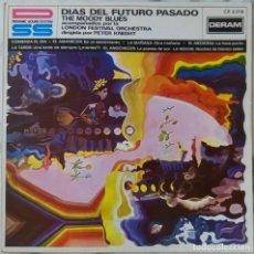 Discos de vinilo: THE MOODY BLUES. DIAS DEL FUTURO PASADO. LP ESPAÑA 1981. Lote 222910361
