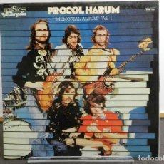 Discos de vinilo: VINILO LP. PROCOL HARUM - MEMORIAL ALBUM VOL. 1. EDICIÓN ESPAÑOLA.. Lote 222911728
