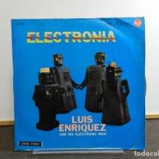 Discos de vinilo: VINILO LP. LUIS ENRIQUEZ AND HIS ELECTRONIC MEN - ELECTRONIA. EDICIÓN ESPAÑOLA.. Lote 222916037