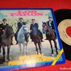 Discos de vinilo: LOS FAROS SANTA MARTA/PARQUE DE ATRACCIONES 7'' SINGLE 1969 NOVOLA POPSIKE. Lote 222920431