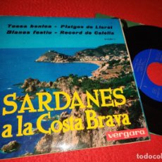 Discos de vinilo: COBLA LAIETANA TOSSA BONICA/RECORD DE CALELLA/BLANES FESTIU +1 EP 1963 VERGARA SARDANA CATALA. Lote 222921668