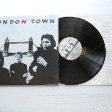 Discos de vinilo: WINGS (2) – LONDON TOWN LP ALEMANIA NM/NM COMO NUEVO MUY RARO ENCARTE CON LETRAS. Lote 222927842