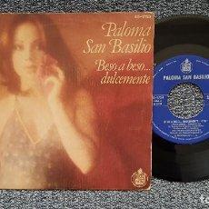 Discos de vinilo: PALOMA SAN BASILIO - BESO A BESO DULCEMENTE / TIEMPO PERDIDO. EDITADO POR HISPAVOX. AÑO 1.978. Lote 222928740