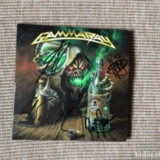 Discos de vinilo: GAMMA RAY TO THE METAL CD + SINGLE FIRMADO POR LA BANDA 2010. Lote 222962867